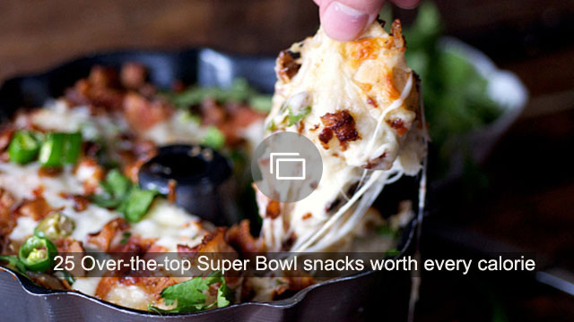 25 Over-the-top Super Bowl snacks worth every calorie