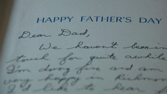 Father receives 26-year-old letter from deceased