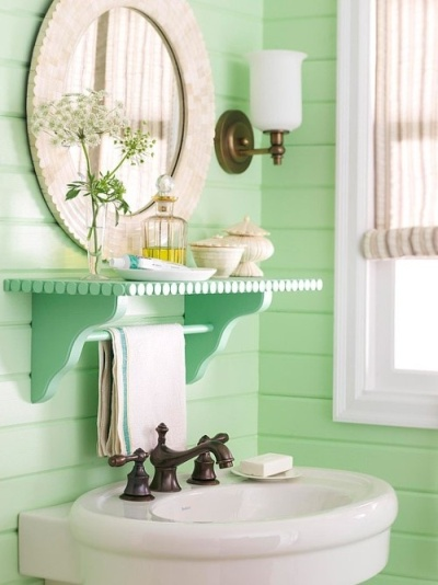 Bathroom accents in the hottest summer