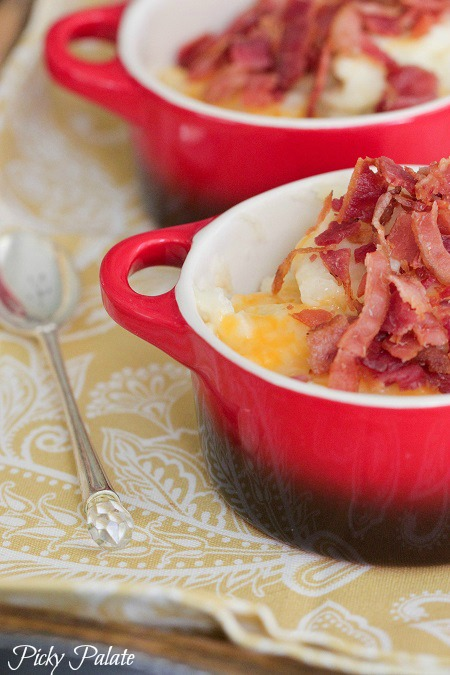 Bacon, ranch, and cheddar potatoes
