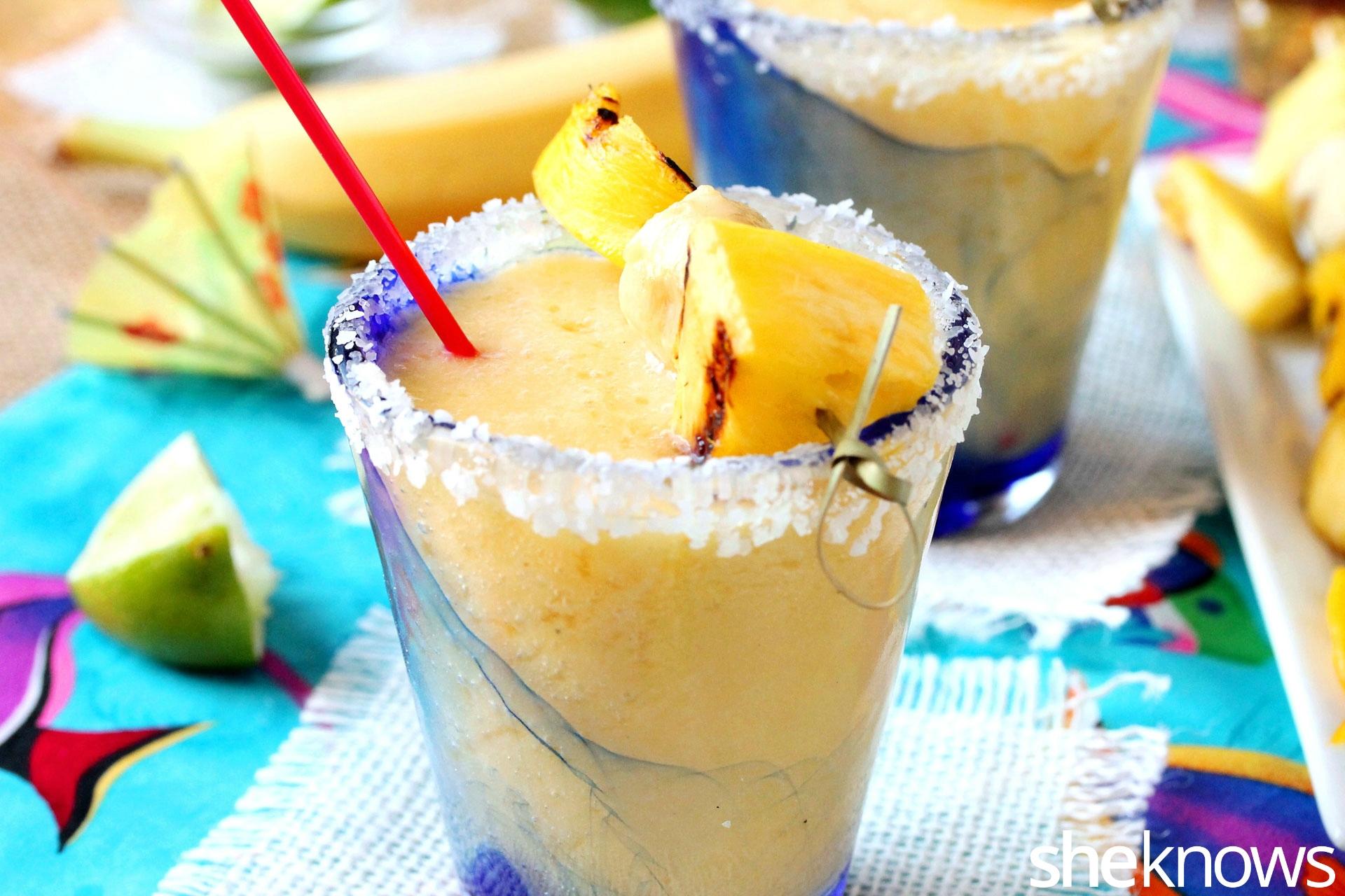 grilled pineapple mango margarita