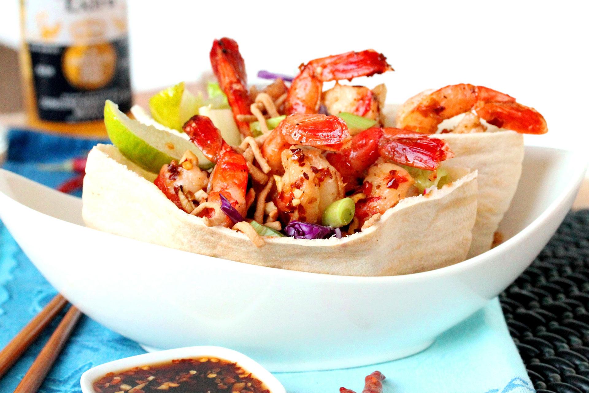 3 Thai shrimp salad pita