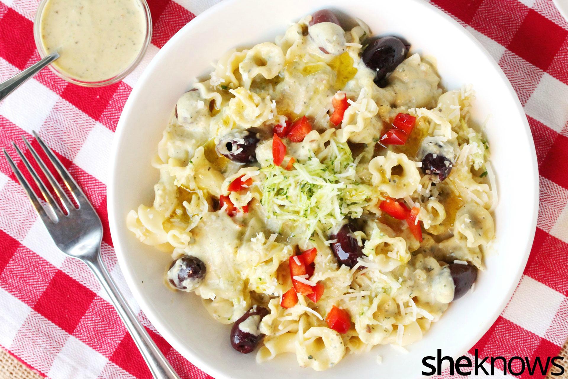 3 zucchini cream pasta