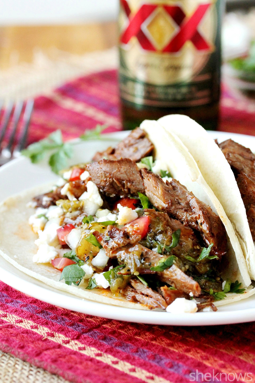 slow cooker soft tacos