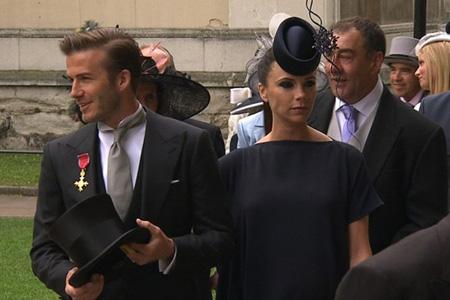 Victoria Beckham royal wedding hat