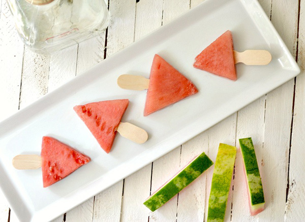 Watermelon tequila wedges