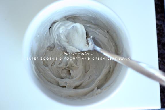 Yogurt & green clay face mask