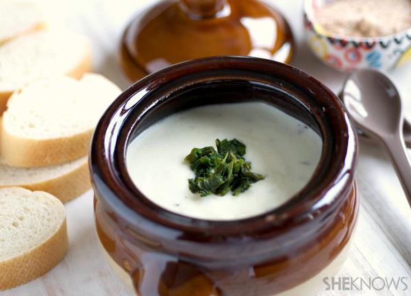 Creamy goat cheese fondue | SheKnows.com