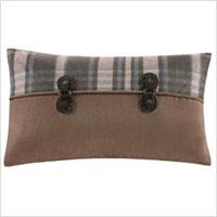 Plaid accent pillow