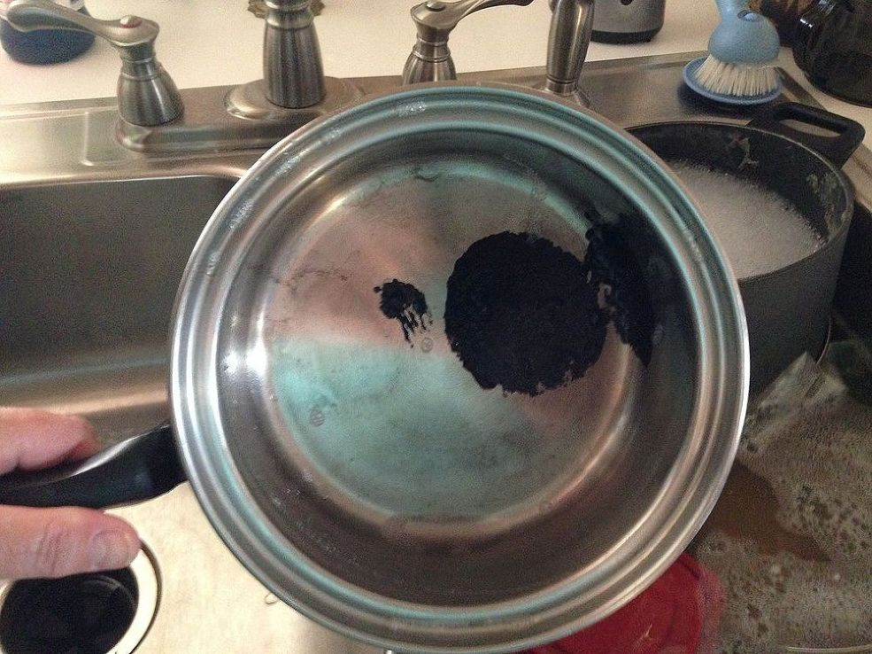 Melted plastic (On cookware)