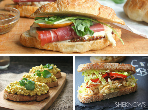 Easter brunch sandwiches