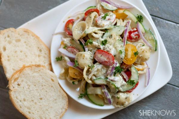 Easy pesto pasta salad recipe