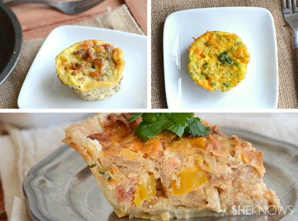 Variety of Easter quiches