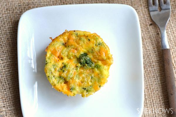 Spicy cheesy broccoli quiches