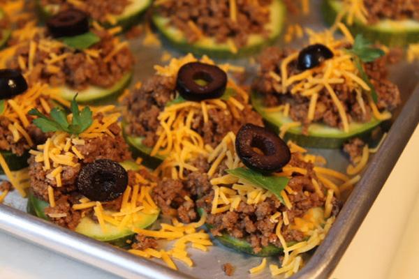Taco zucchini bites