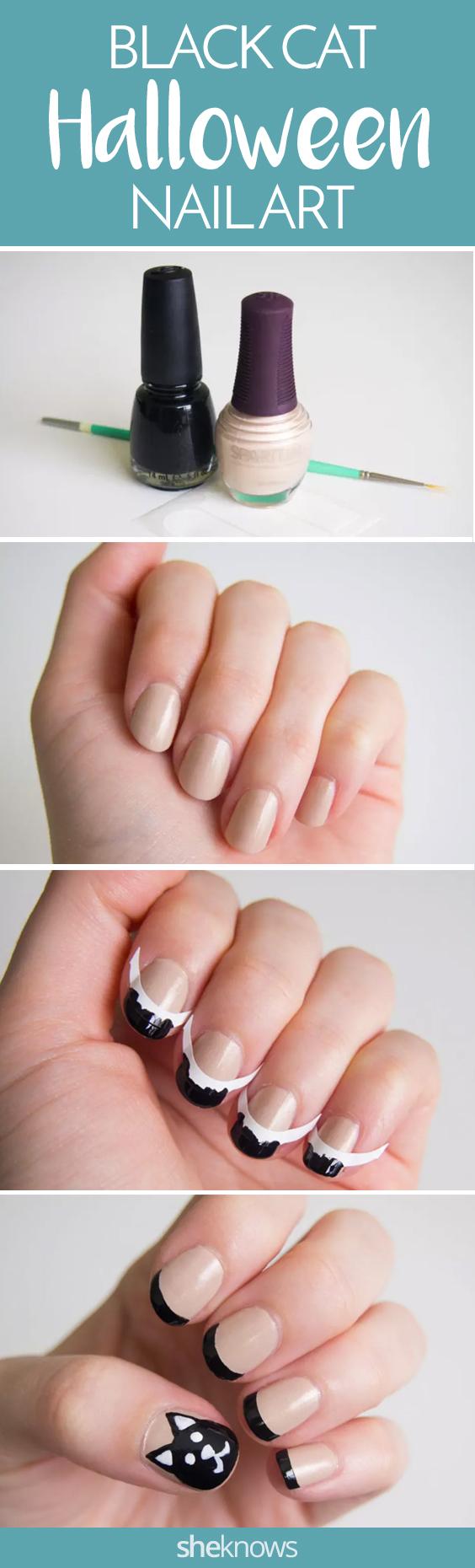Pin it! Black cat nails
