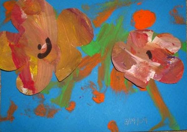 3-D Finger paint art