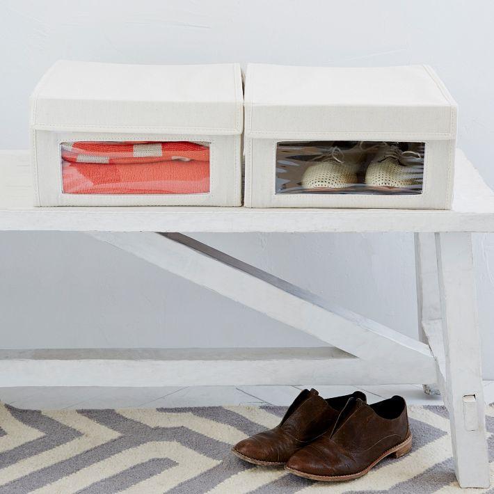 Canvas Shoe Box