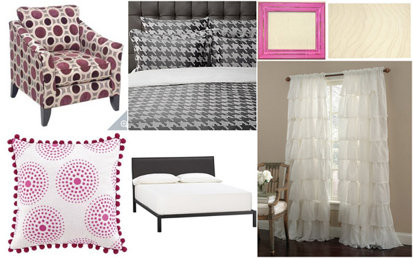 Fall color palette: Pink, Plum and Grey collage