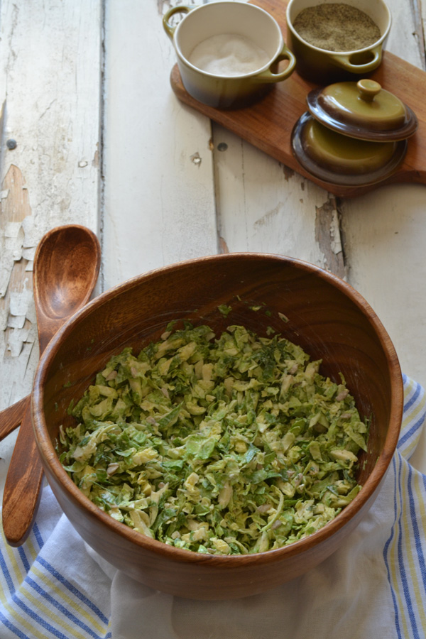 Light and lemony Brussels sprouts slaw