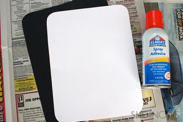 iDad Father's Day card step three: glue inside sheet