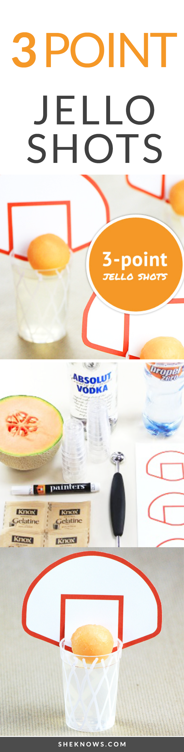 Pin it! March Madness 3-point jello shots