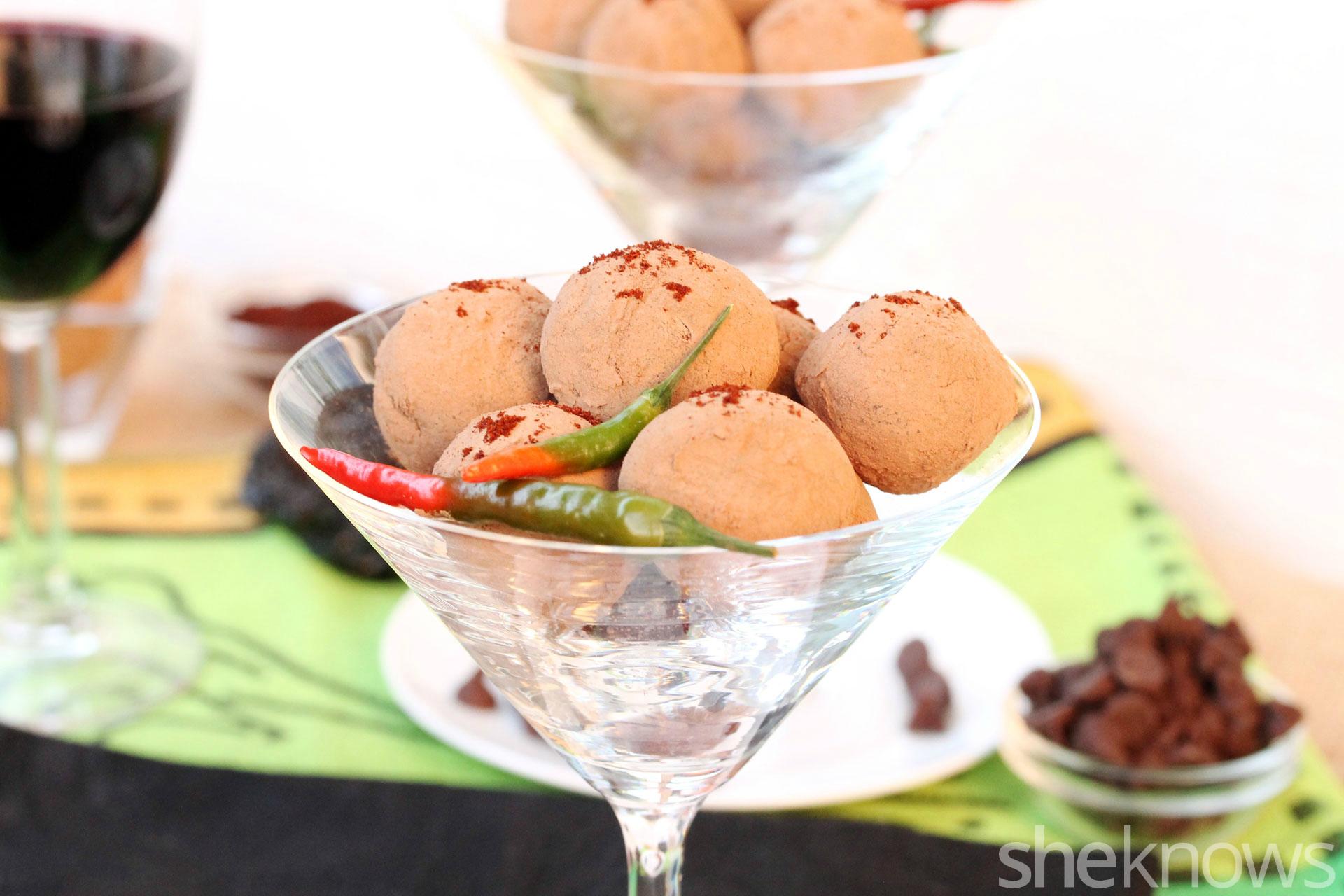 4 Ancho chili truffles