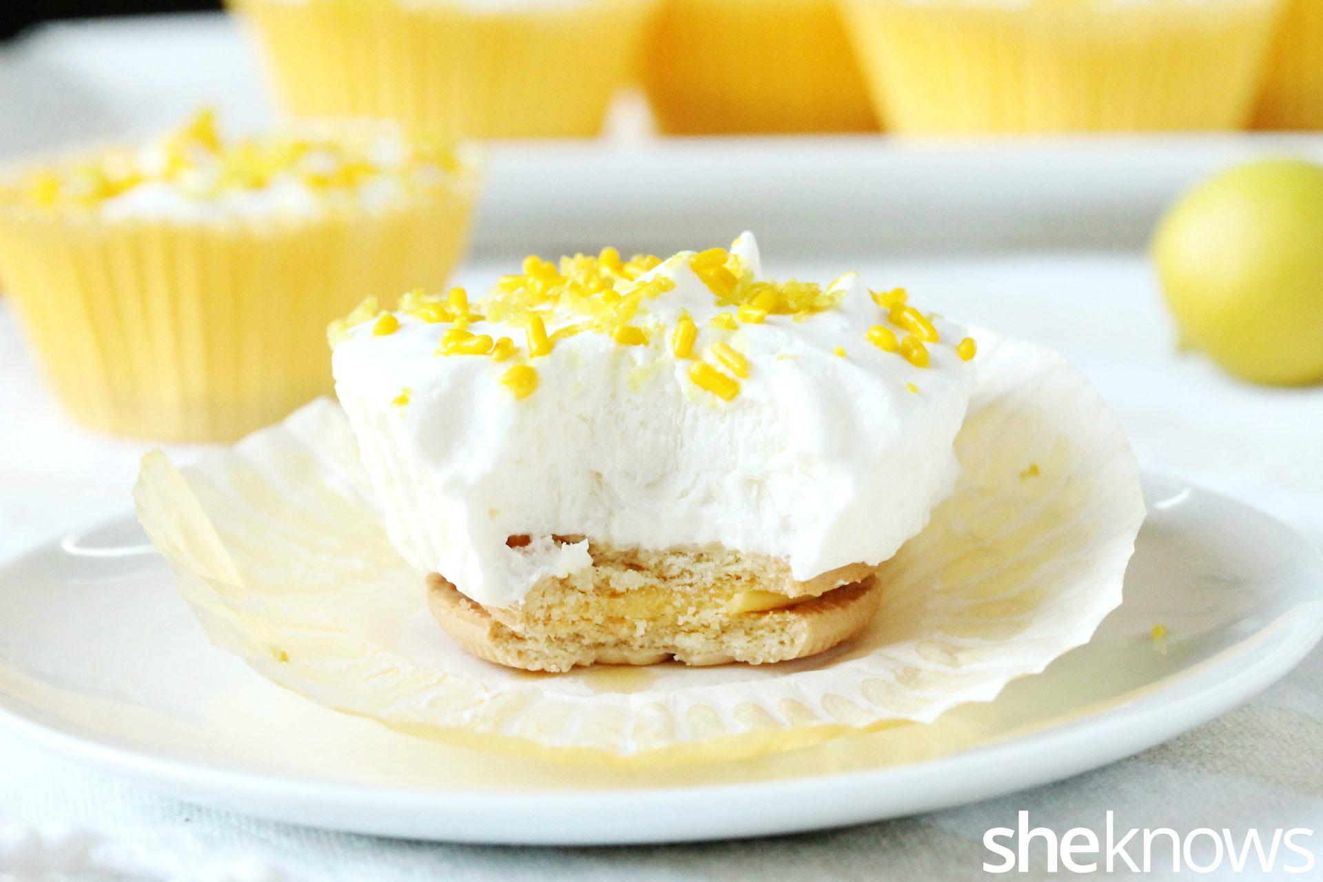 bite of lemon cool whip cupcakes