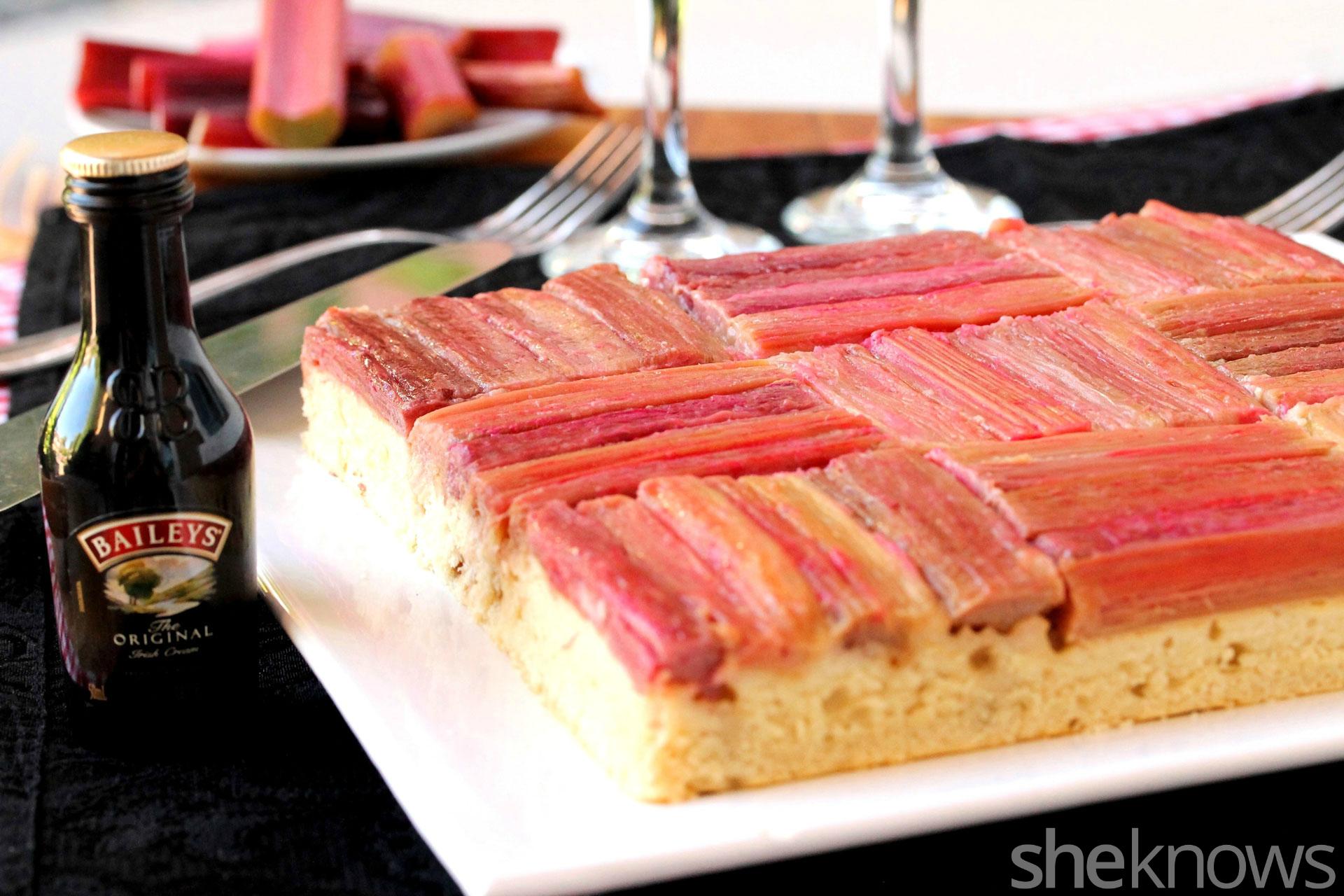 baileys rhubarb cake