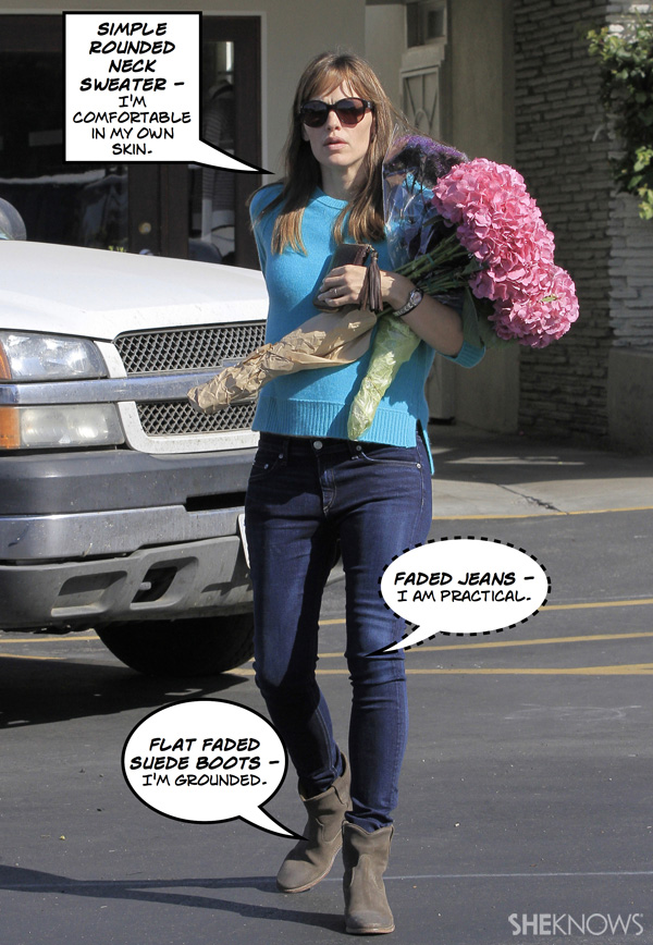 What does Jennifer Garner's fall outfit mean?