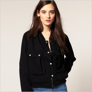 Our pick: Cheap Monday bomber jacket in basic black (asos,com, $200)