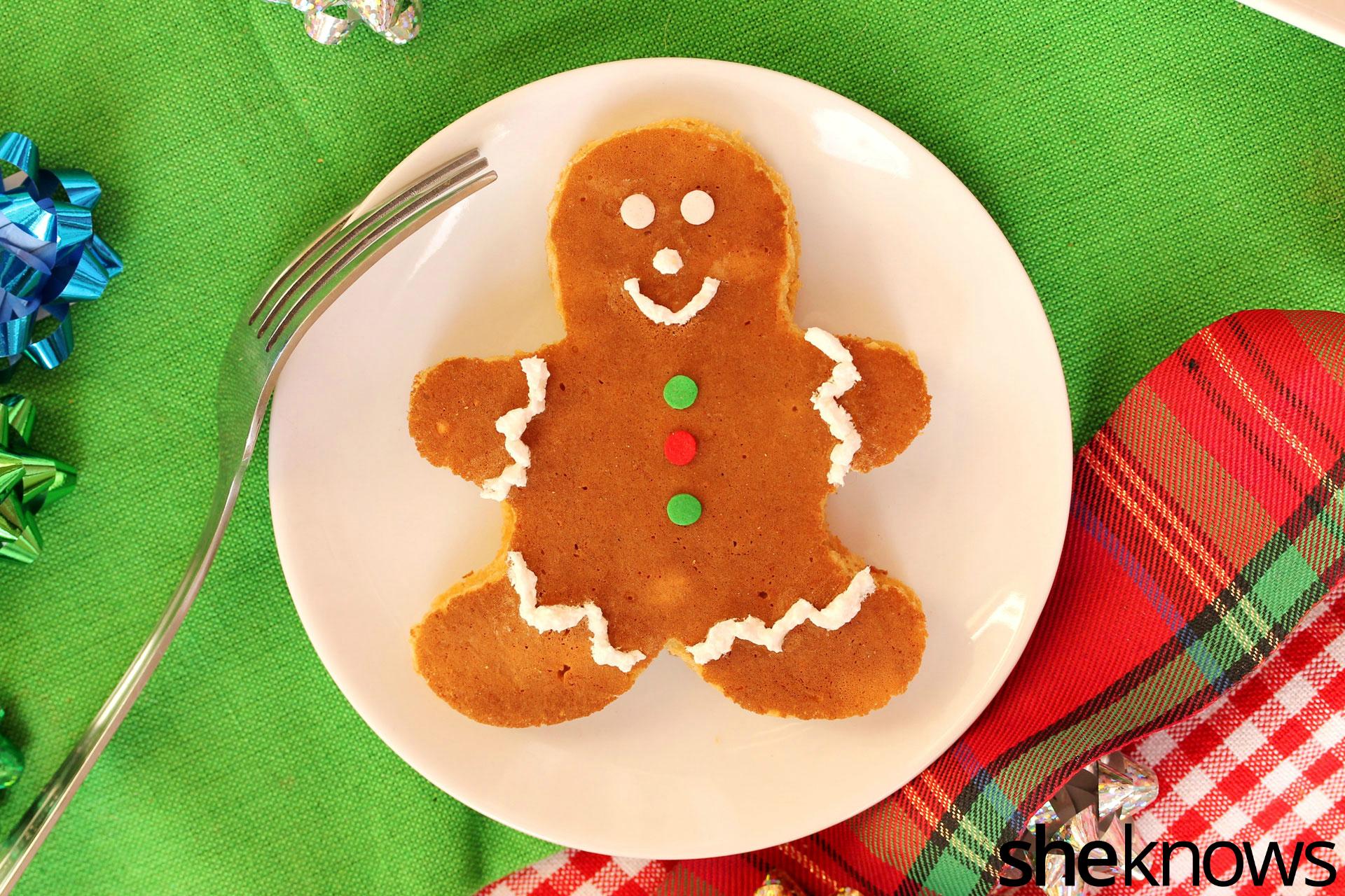 gingerbread-man-pancake-on-plate