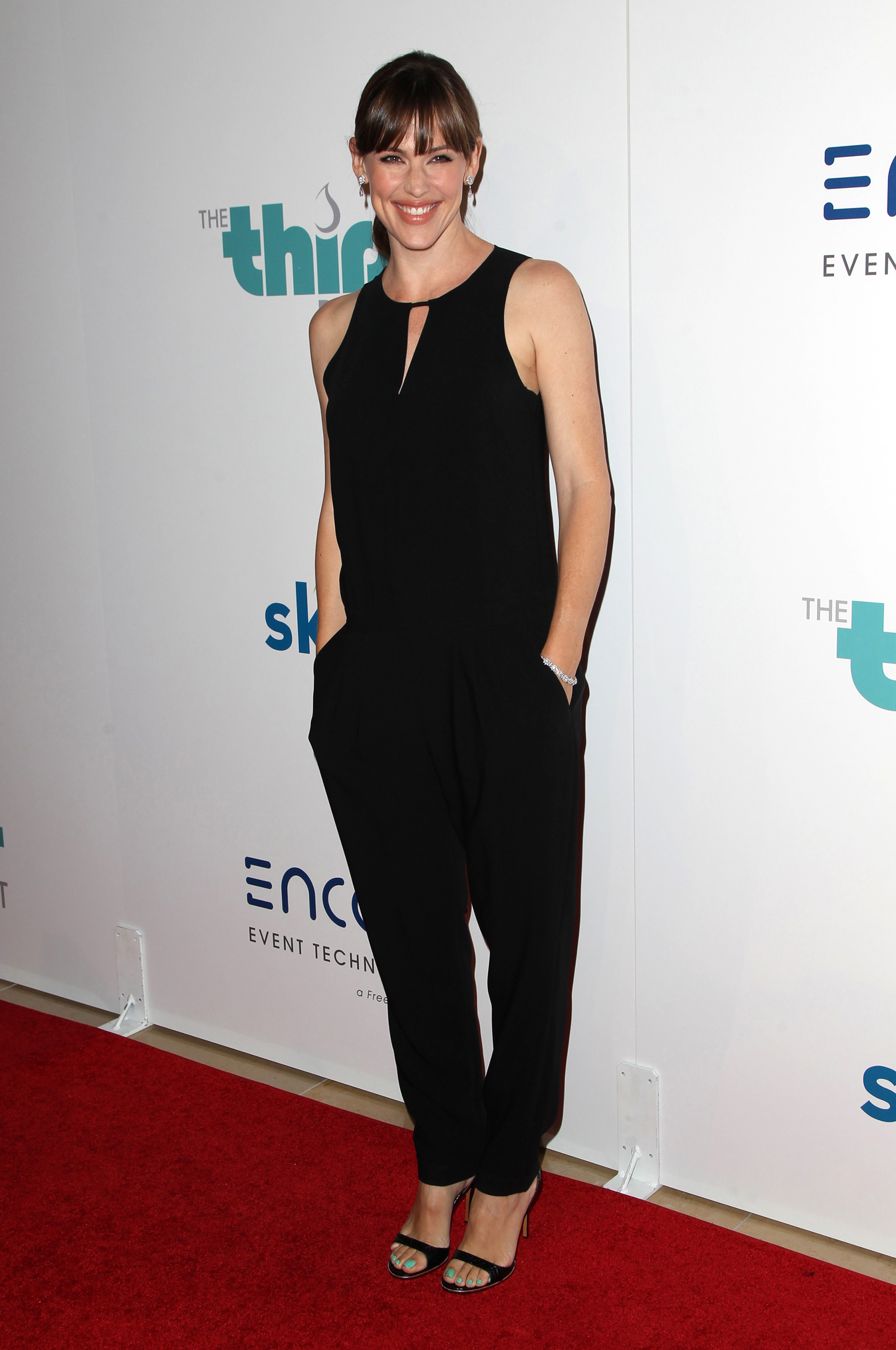 Jennifer Garner wearing a jumpsuit