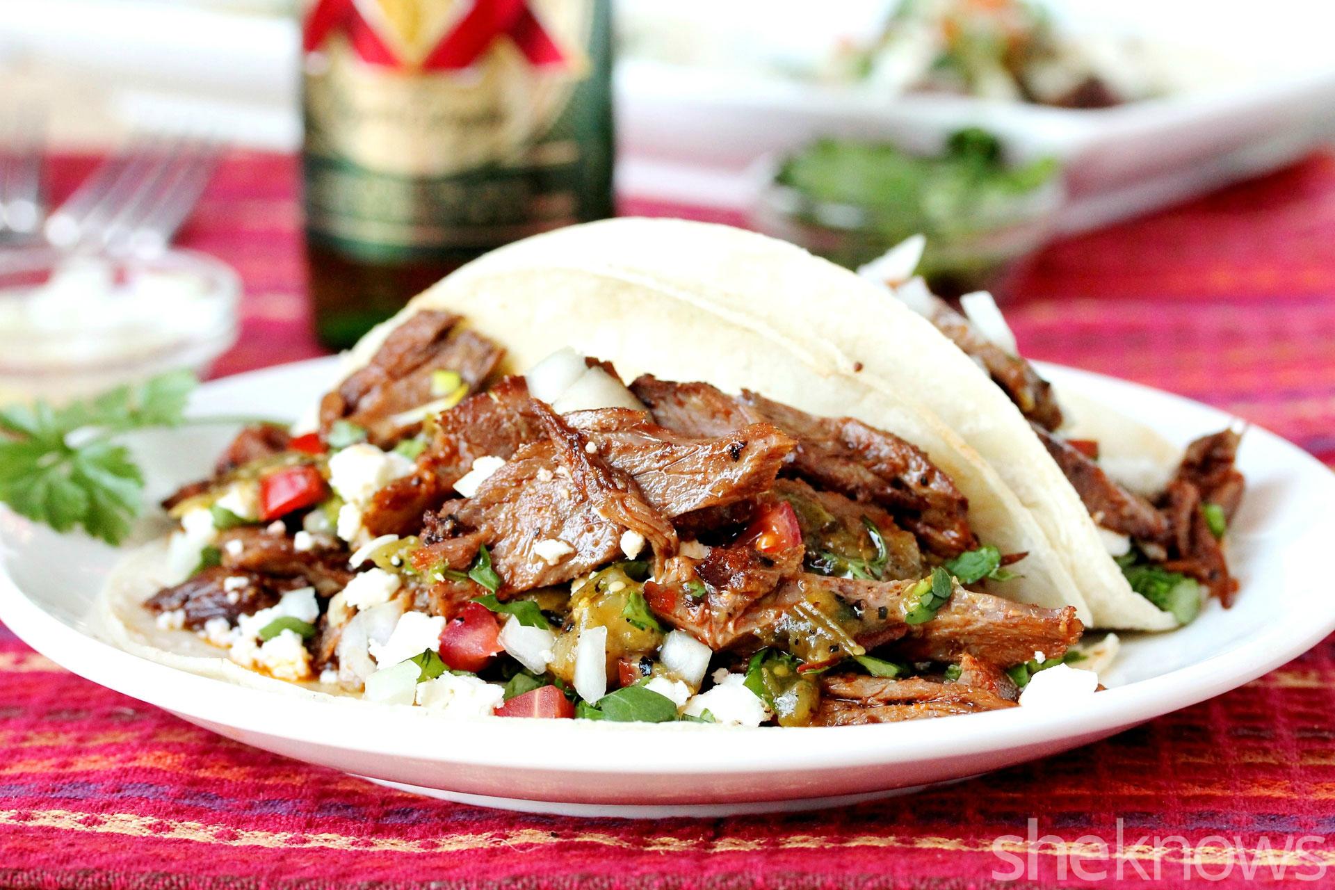 slow cooker carne asada adobo tacos