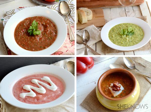 4 gazpacho soups