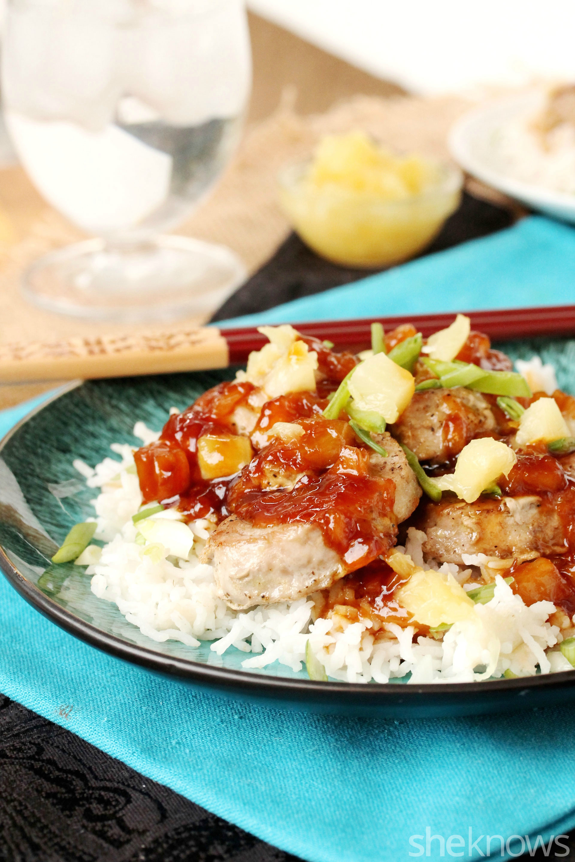 4 teriyaki pork loin