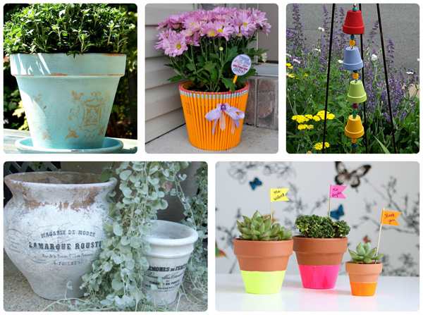 5 Ways to reuse terracotta pots