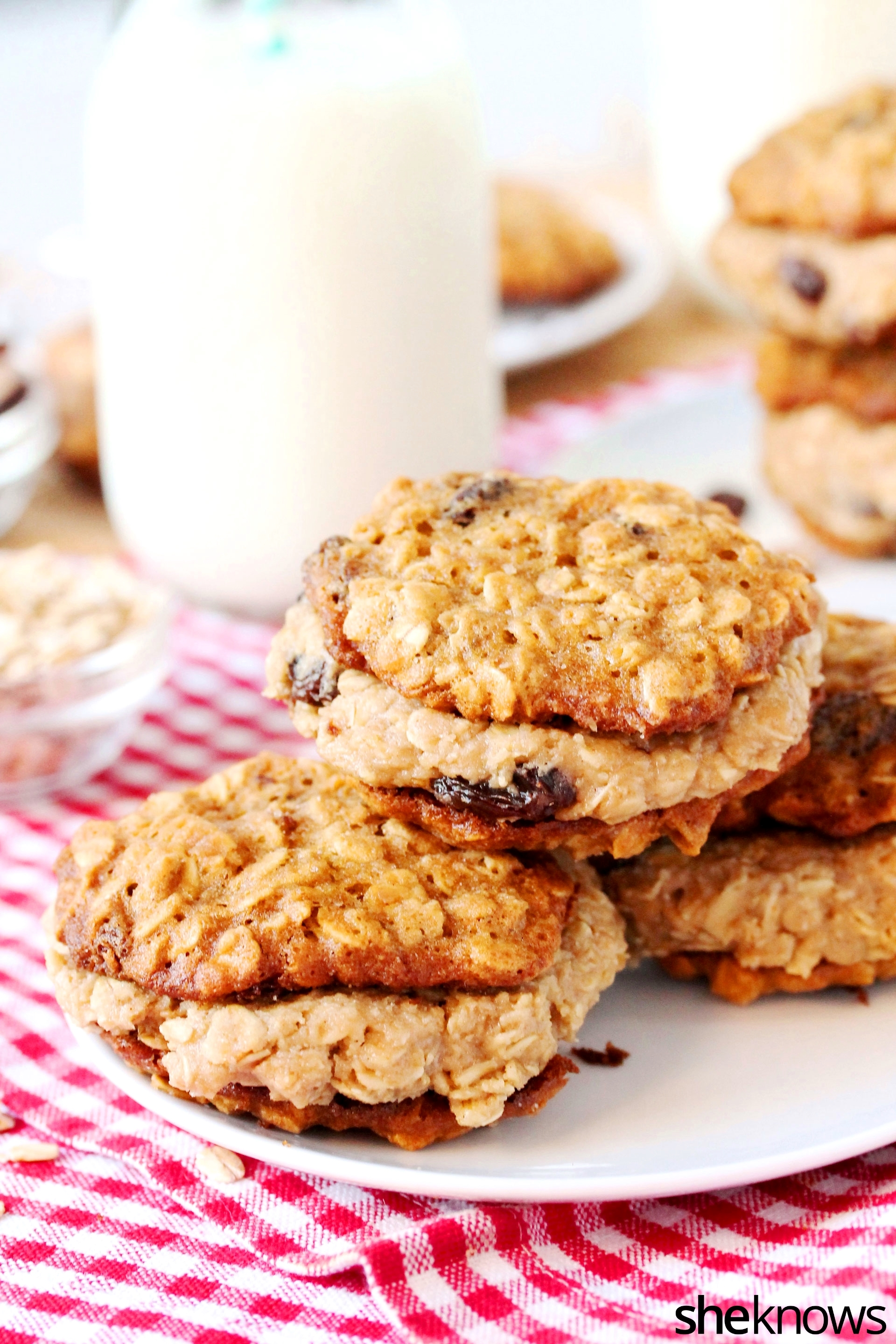 cookie-dough-oatmeal-cookie-on-plate