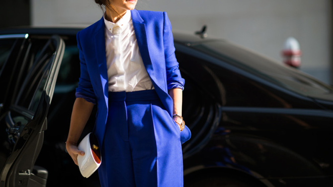 Colors to Wear to a Job Interview: Blue Power Suit