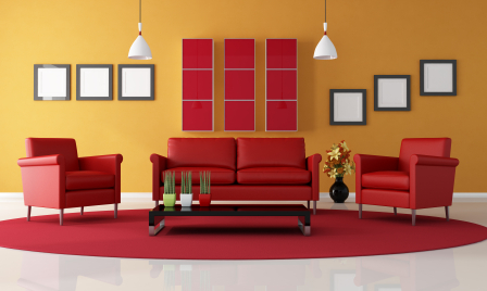 Red Living Room Sofas