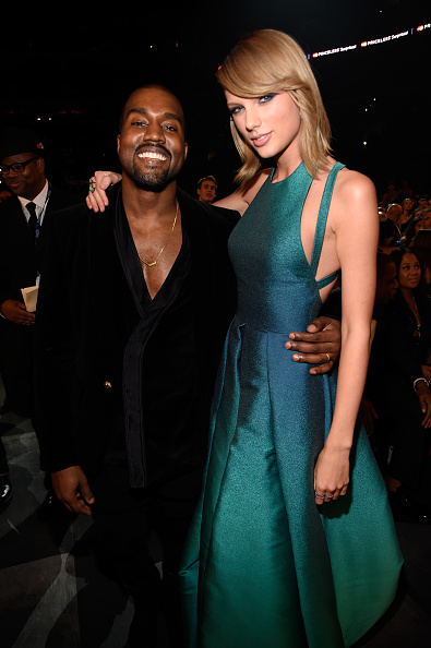 Kanye West and Taylor Swift at Grammys