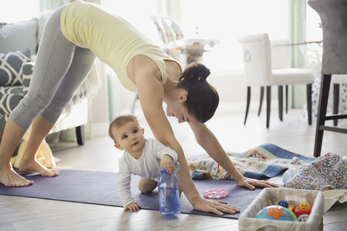 For moms, finding time to exercise