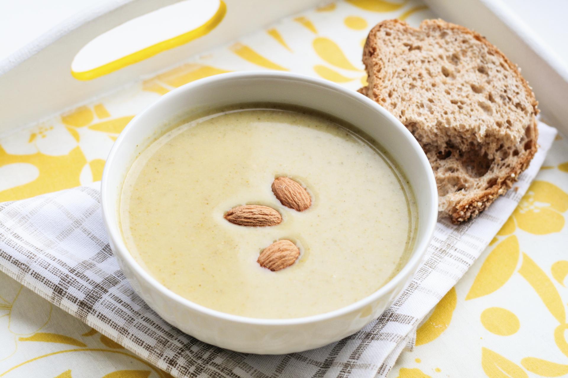 lemon almond soup