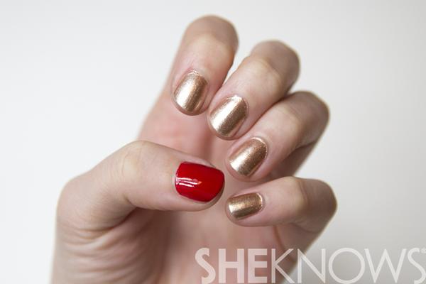 San Francisco 49ers Superbowl Nail Art