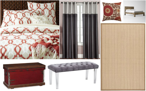 Fall color palette: Tans, grays and rustic reds