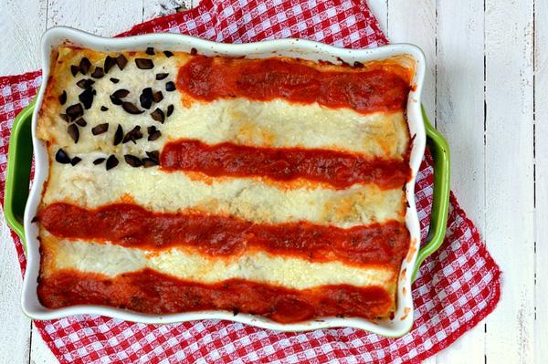 4th of July flag lasagna