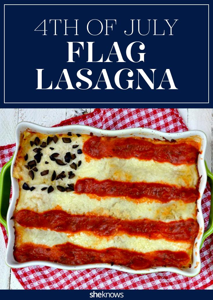 4th of july lasagna