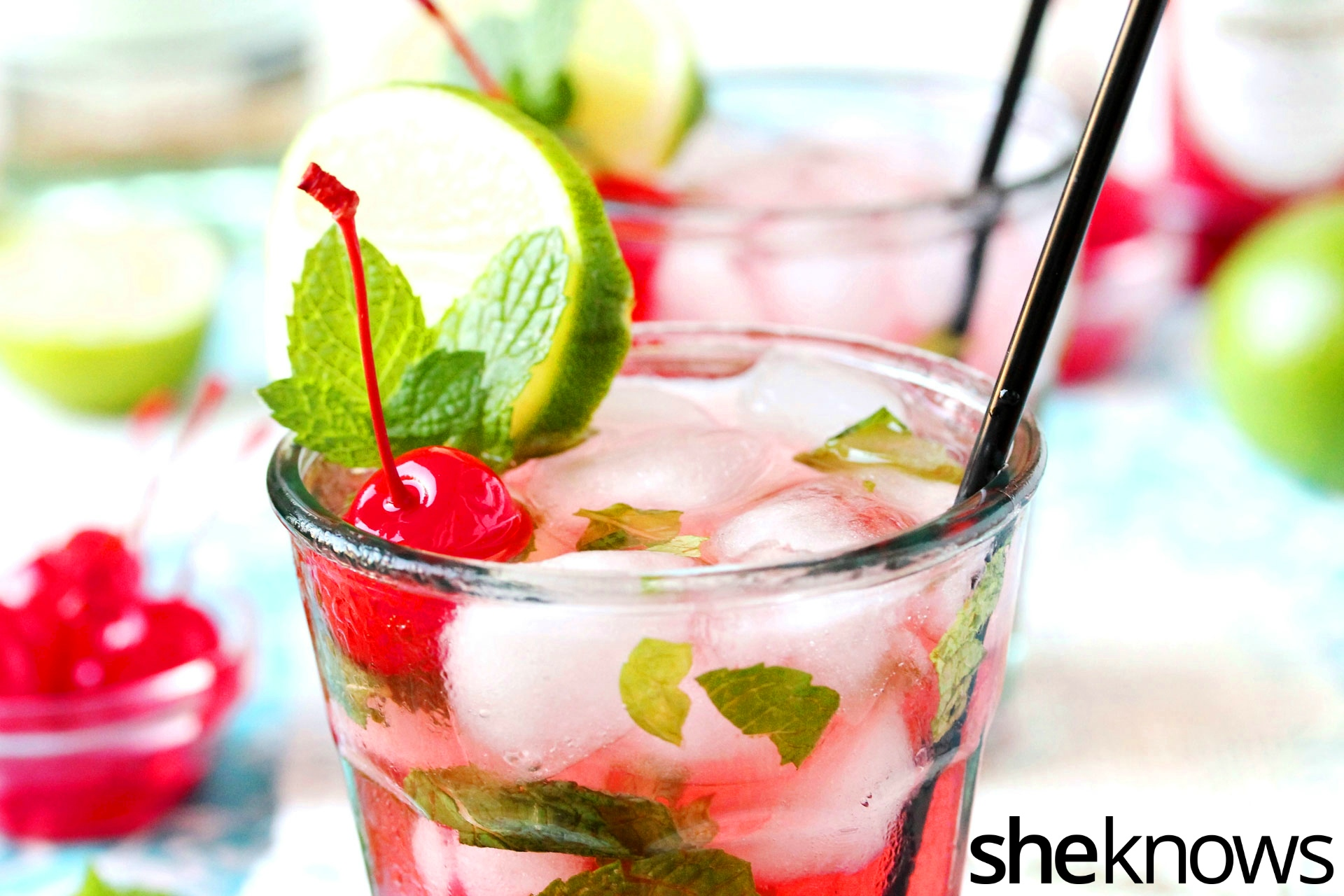 shirley temple mint mojito
