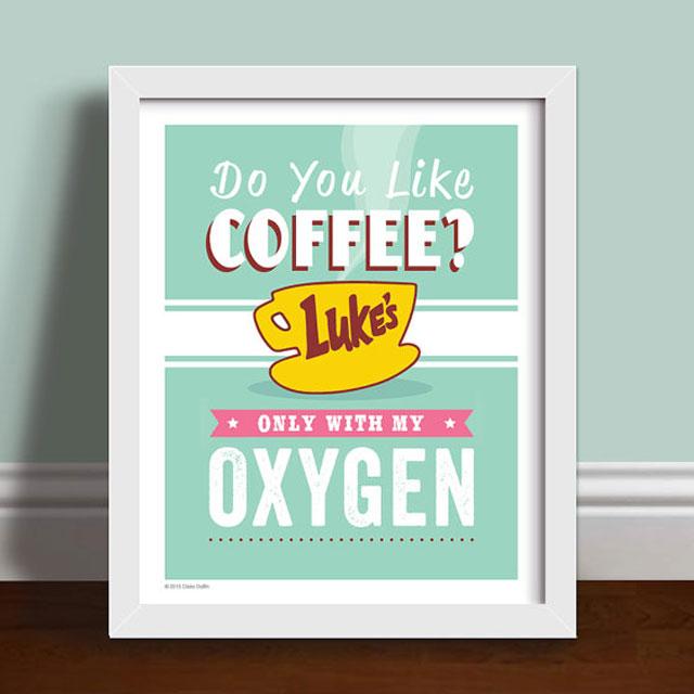 Do you like coffee? framed print