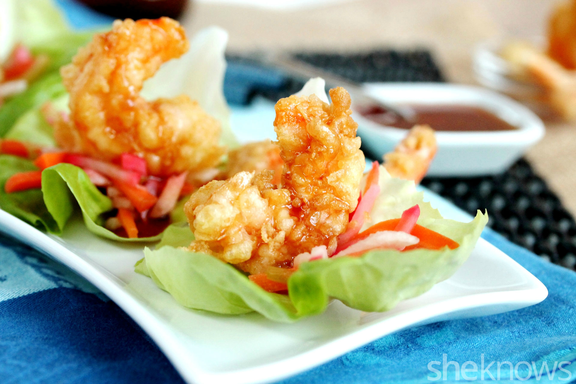 Tempura Shrimp Lettuce Wraps Are Melt In Your Mouth Delicious Sheknows